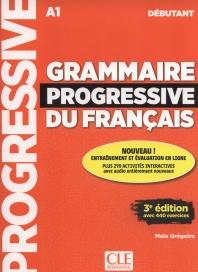Grammaire progressive du francais - Niveau debutant - 3 edition - Livre + CD