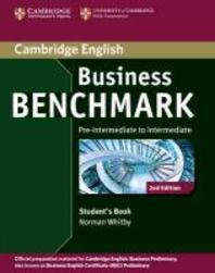 Business Benchmark Pre-Intermediate to Intermediate Business Preliminary Student's Book (무료배송)