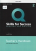[보유]Q: Skills for Success: Level 2: Reading and Writing Teacher's Handbook with Teacher's Access Card