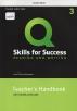 [보유]Q Skills for Success: Reading and Writing. 3 Teacher's handbook (with Teacher Access Card)