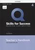 [보유]Q Skills for Success: Reading and Writing. 4 Teacher's handbook (with Teacher Access Card)