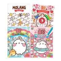 몰랑+레인보우 스티커 색칠북+컬러링북+스티커 액티비티북 세트 (전4권)