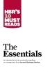 [보유]HBR's 10 Must Reads: The Essentials