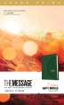 [보유]The Message Deluxe Gift Bible, Large Print (Leather-Look, Green)