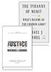 마이클 샌델 Justice + The Tyranny of Merit 세트