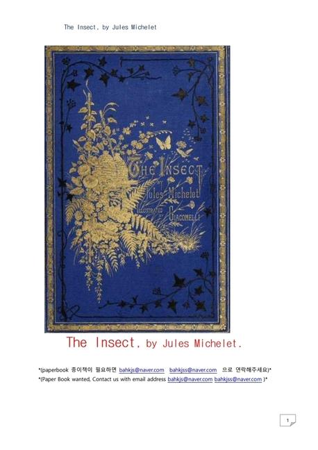 곤충.The Insect, by Jules Michelet