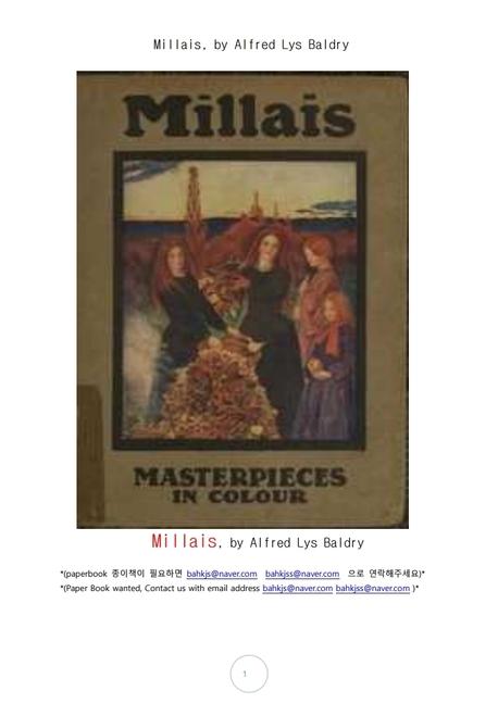 영국화가 존 에버렛 밀레이. Millais, by Alfred Lys Baldry