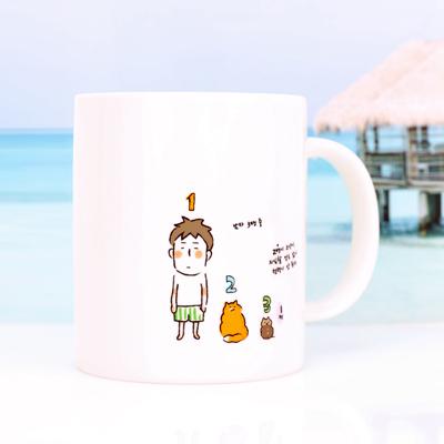 아기 고양이 동그리 머그컵 (단독 제작)