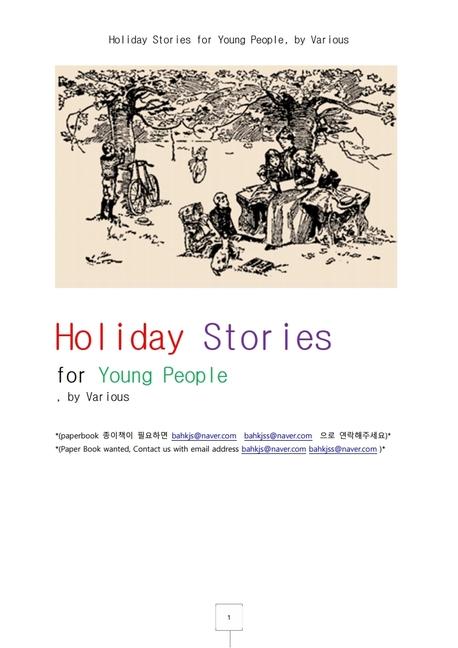 젊은이를 위한 성탄절이야기들.Holiday Stories for Young People, by Various