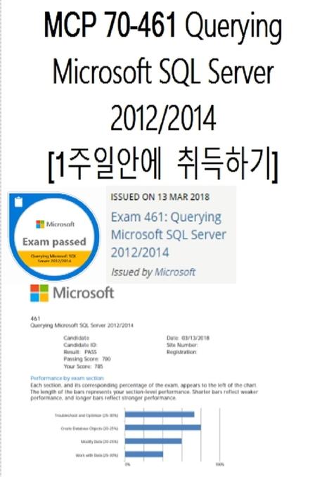 MCP 70-461 Querying Microsoft SQL Server 2012/2014  1주일안에  취득하기