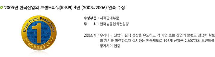 2006�� �ѱ������ �귣���Ŀ�(K-BPI) 4�� ���� ����