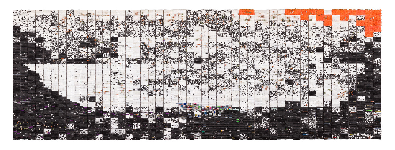 정산 김연식, 소동파의 적벽가, 혼합 기법, 200 x 600, 2016