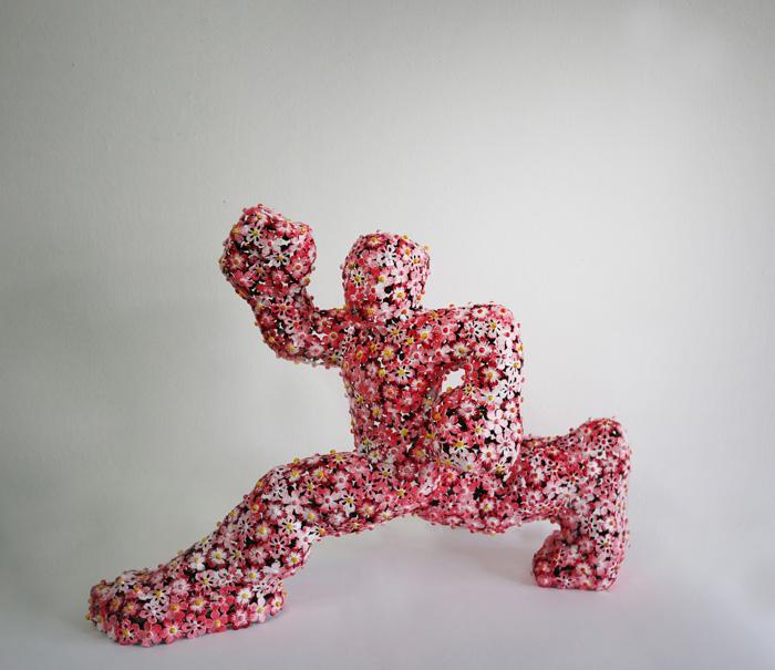 �輺��, <�ٶ��� �Ҿ �����Ѵ�>, �����θ��� ��ƿ�� ��ũ��, �췹ź ����, 55x39x20 cm, 2015