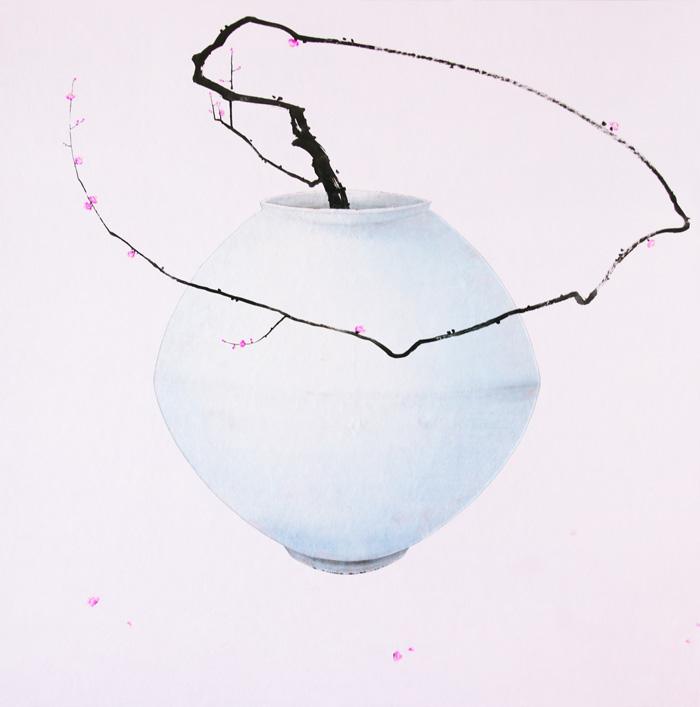 오관진, <비움과 채움(복 두꺼비)>, 혼합재료, 150x150 cm, 2016