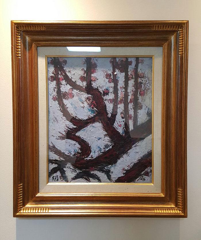 이 인, <풍경의 의미>, 천 위에 아크릴 채색, 93X73cm, 2016