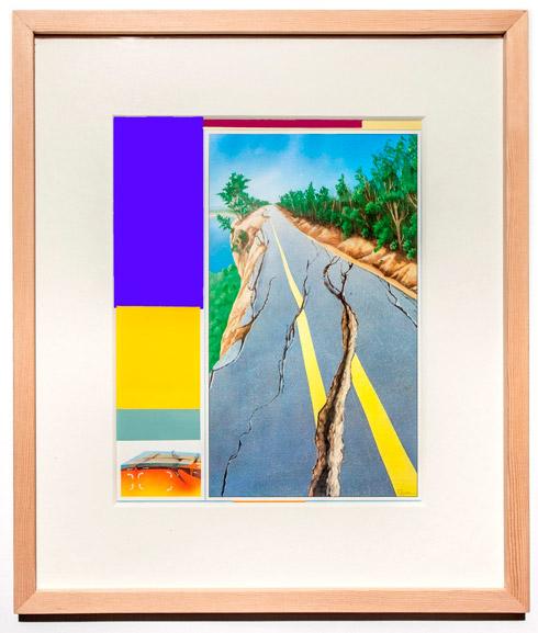 지희킴, [The Crack], 기부 받은 책 페이지에 색지, 39.4 x 34.9cm, 2014