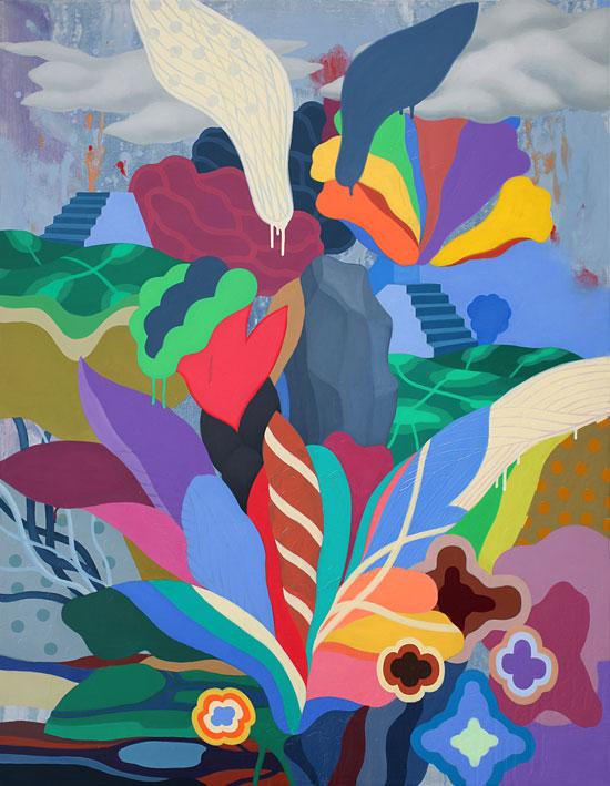 김근중, [Natural Being(꽃 세상, 原本自然圖)11-38.], 117 × 91cm, 캔버스에 아크릴, 2011