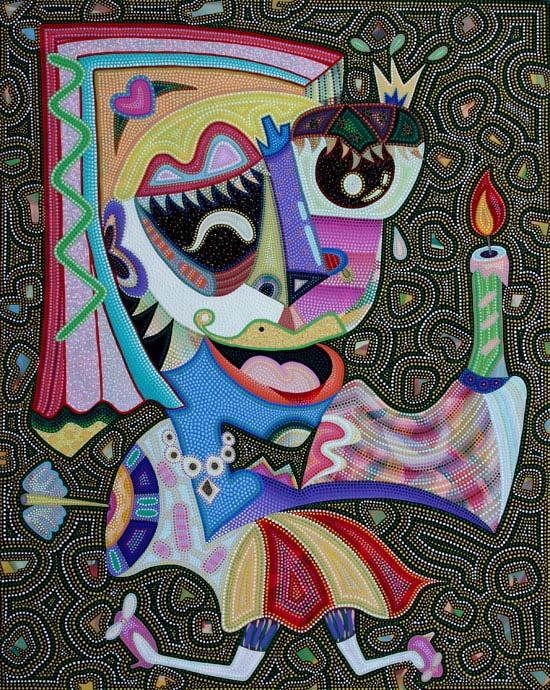 김썽정, [봄의 왈츠], 110 × 80cm, 캔버스에 아크릴, 2013