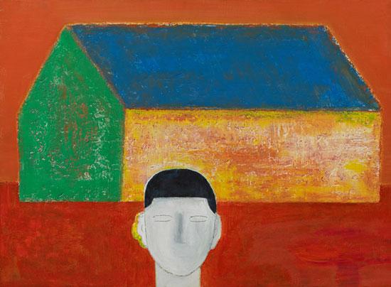[빈 집], 캔버스에 혼합재료, 52.5×72.5cm, 2016