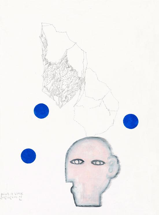 [비밀문장], 종이에 혼합재료, 70×56cm, 2016