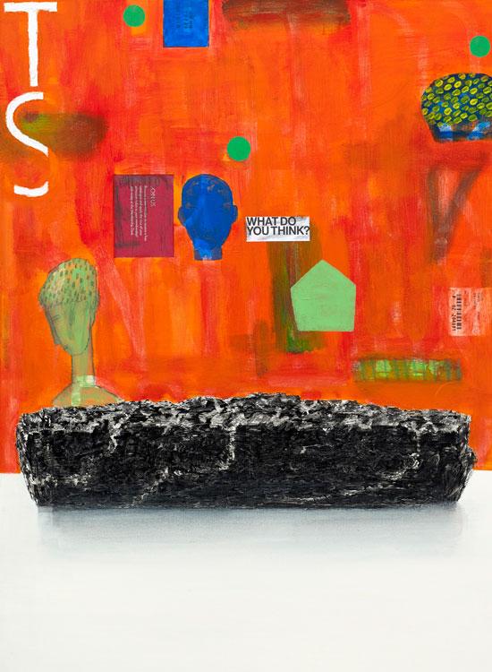 [아름답고 쓸모없기를], 캔버스에 혼합재료, 72.5×52.5cm, 2016