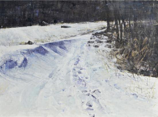 이강화 [눈 오는 지도] 72.5×53cm 캔버스에 유화 2017