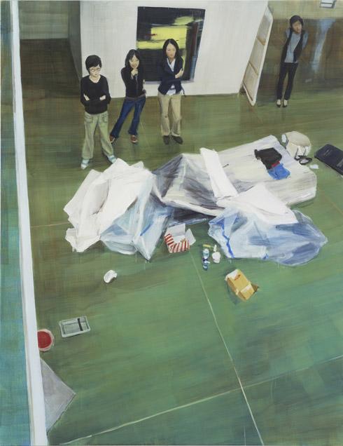 그림을 바라보는 네 여자, 230 ⅹ 178cm, 캔버스에 유채 oil on canvas, 2010
