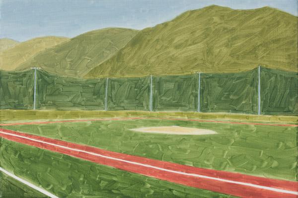 전병구 [Baseball Stadium 2] 27.3 x 40.9cm Oil on Canvas 2017