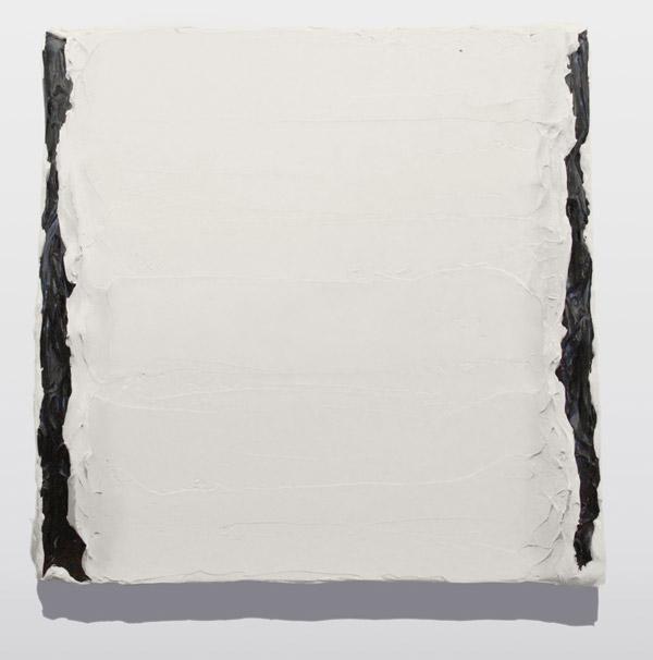 캐스퍼강 [상대 2] 40 x 40 cm Acrylic, Forming Medium, & Mineral Spirit Archival Varnish on Linen Hemp 2017