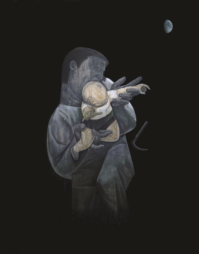 조문기 [벌초] 캔버스에 아크릴 116.8×91.0cm 2018