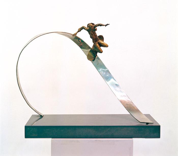 [지나간 세기를 위한 기념비] 60×40×50cm 브론즈, 스테인레스 2003