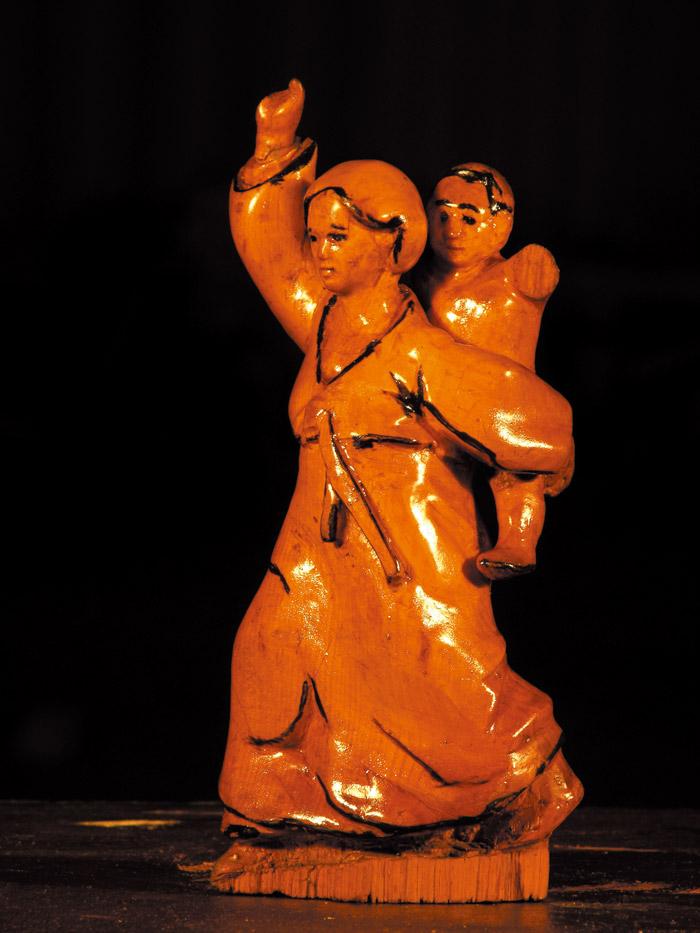 [모자상] 10×10×20cm 나무 1984