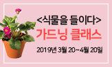 <식물을 들이다> 독자초청 이벤트(댓글 추첨 2명 클래스 초대)