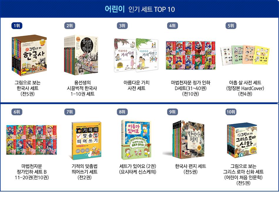 어린이 인기 세트 TOP10