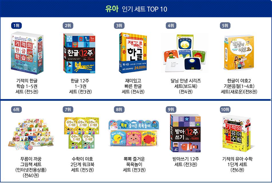 유아 인기 세트 TOP10