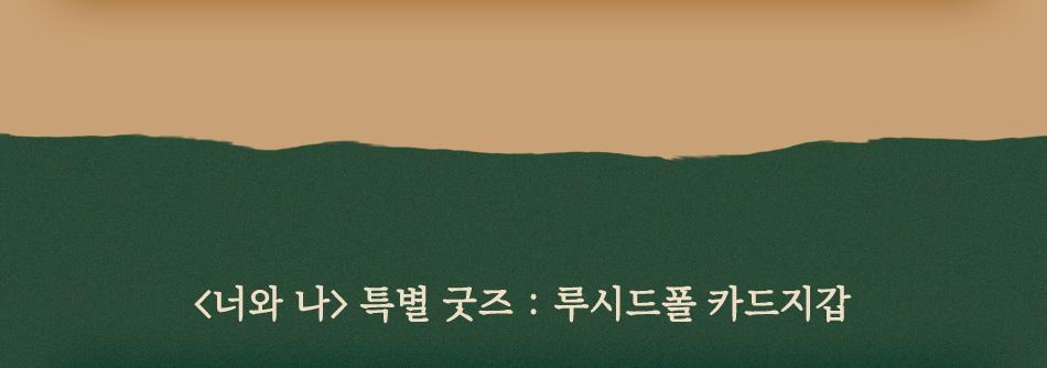 <너와 나> 특별 굿즈 : 루시드폴 카드지갑
