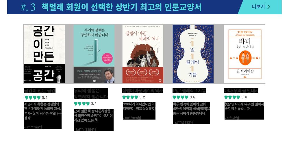 #3. 책벌레 회원이 선택한 상반기 최고의 인문교양서