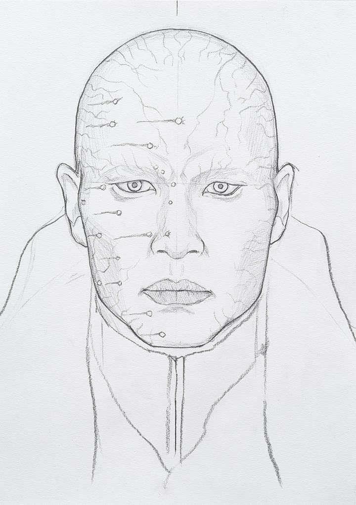 [Henchmen: Zao (Die Another Day) 헨치맨: 자오 (007 어나더데이)] 종이에 연필 41.4×29cm 2011