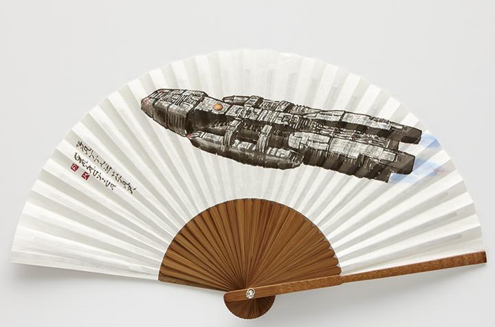 [Battlestar Galactica 배틀스타 갈락티카] 지본수묵담채(紙本水墨淡彩), 부채 34×61cm 2012