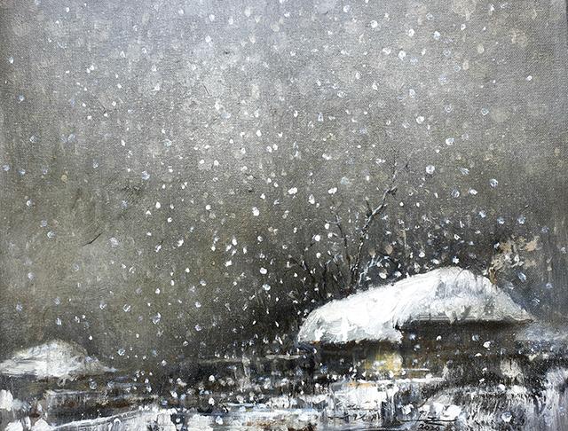 박영근 [눈 오는 저녁] 53×45.5cm 캔버스에 오일 2020