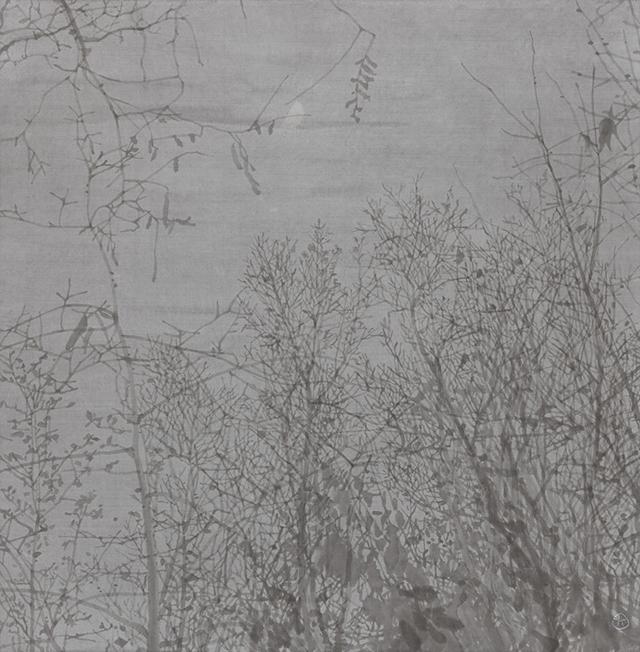 정용국 [꿈자리] 70×68.3cm 한지에 수묵 2020