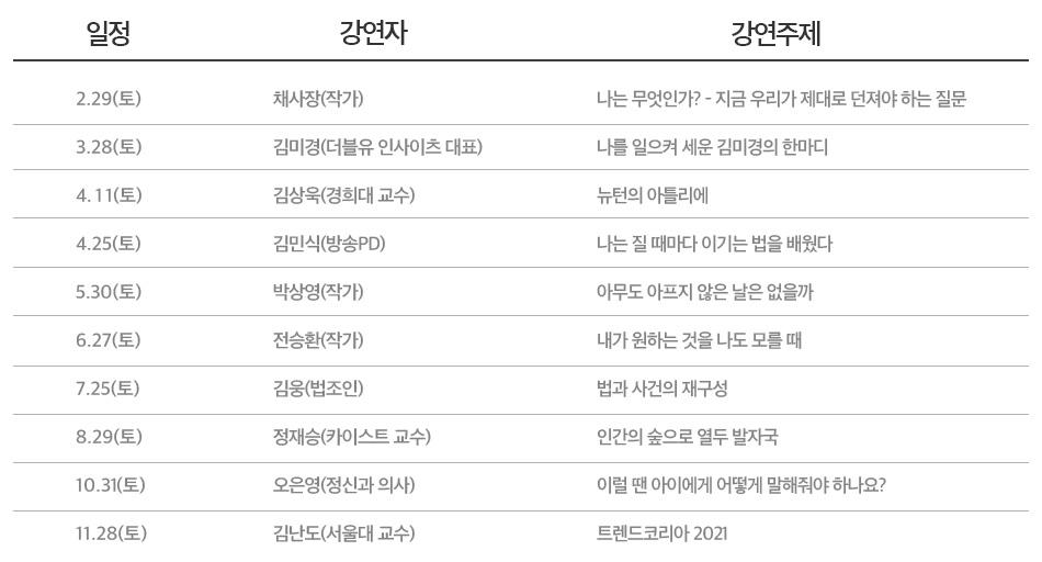 시즌8 명강의 big10 일정