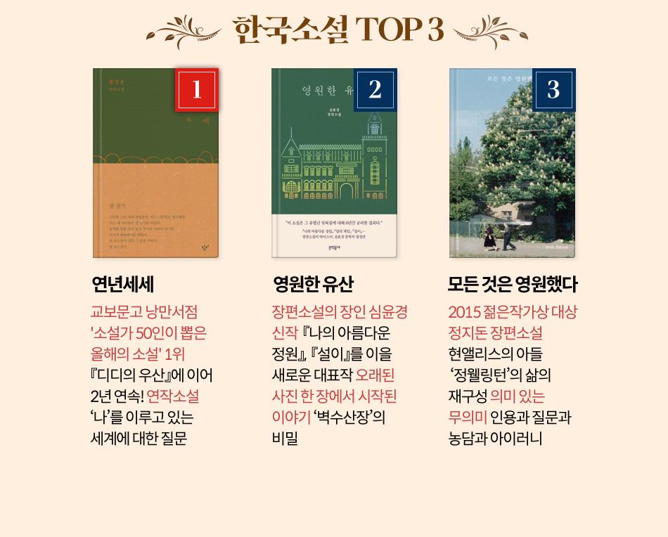 한국소설 TOP 3