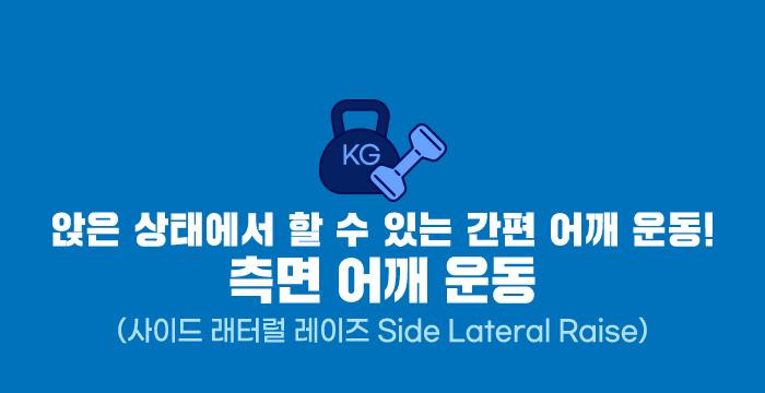 앉은 상태에서 할 수 있는 간편 어깨 운동! 측면 어깨 운동(사이드 래터럴 레이즈 Side Lateral Raise)