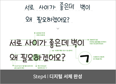 step4. 디지털 서체 완성