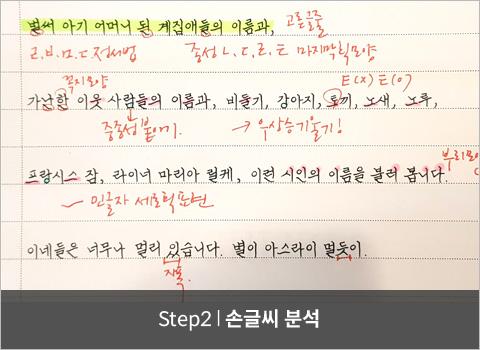 step2. 손글씨 분석