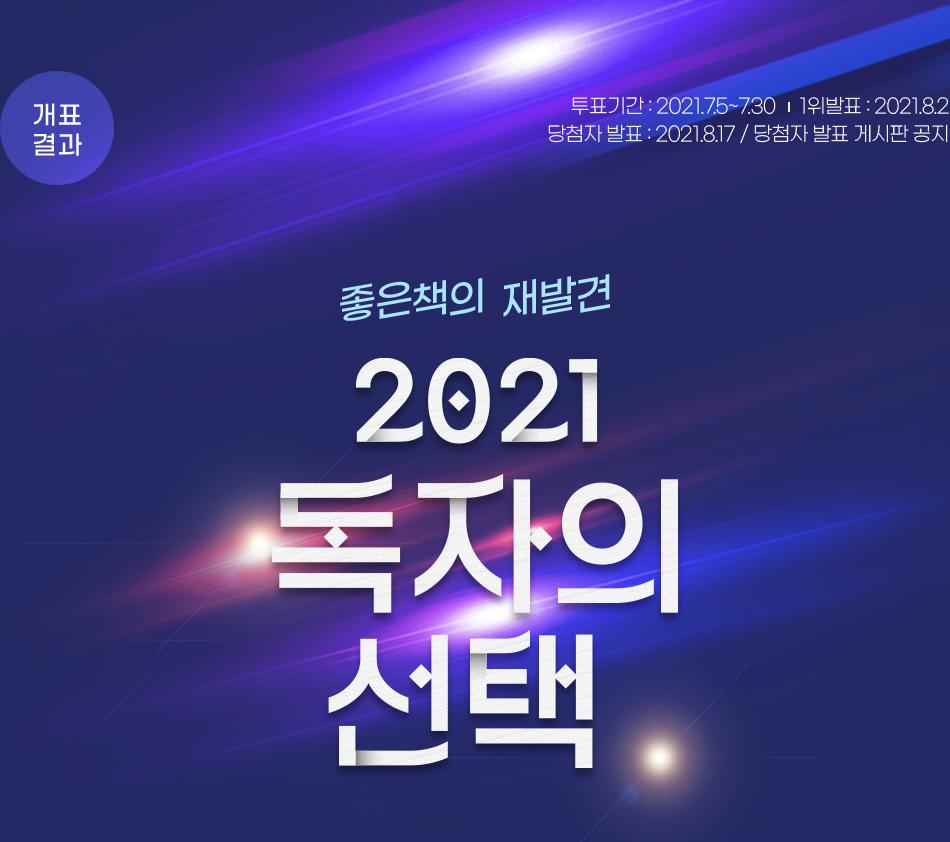 2021 독자의 선택 투표기간: 2021.7.5~7.30 결과 발표: 2021.8.2 당첨자 발표 : 2021.8.17 당첨자 발표 게시판