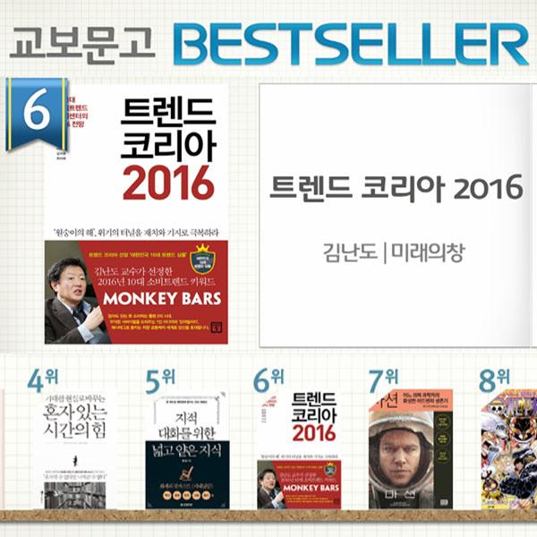 <11월 1주> 2016년의 키워드는? 『트렌드 코리아 2016』 종합 6위