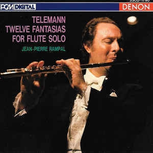 Jean-Pierre Rampal / Telemann : Twelve Fantasias For Flute Solo (일본수입/33CO1790)