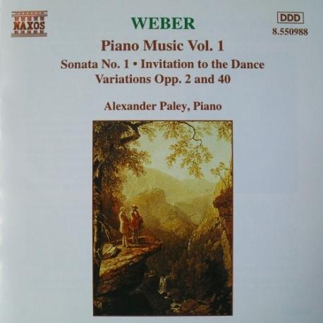 [수입] 베버(WEBER) : 피아노 소나타 1번, 변주곡
